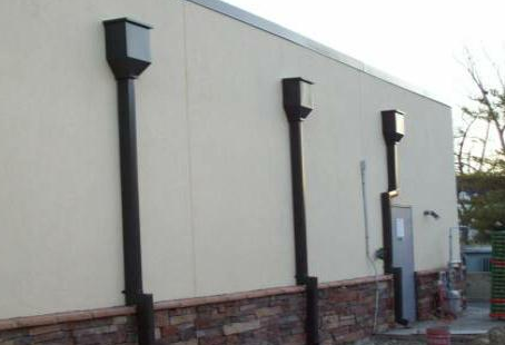 example of commercial gutters after install - dallas area